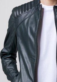 Tigha - Leather jacket - asphalt - 3
