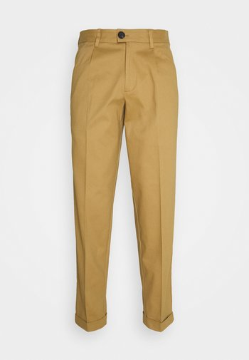 JJIBILL JJBRAD CROPPED - Kalhoty - beige