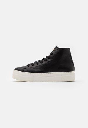 SLFHAILEY HIGHTOP TRAINER - Sneakers hoog - black