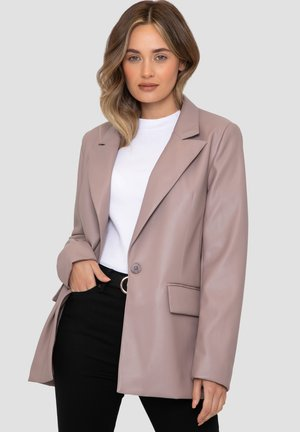 CONKER - Faux leather jacket - taupe