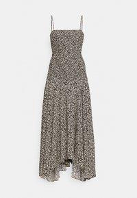 MICRO FLORAL SMOCKED DRESS - Day dress - ecru/black