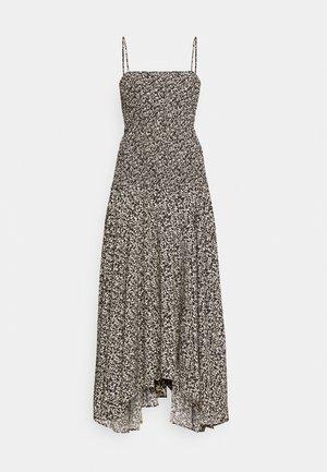 MICRO FLORAL SMOCKED DRESS - Denní šaty - ecru/black