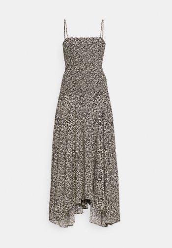 MICRO FLORAL SMOCKED DRESS - Vestido informal - ecru/black