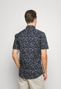 Lindbergh - FLORAL STRETCH SHIRT - Skjorta - dark blue - 2