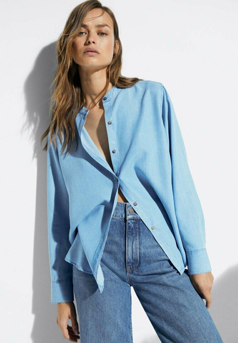 Massimo Dutti - Skjortebluser - light blue