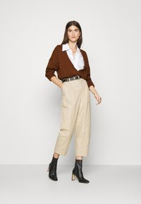Abercrombie & Fitch - TALL CARDI - Cardigan - brown - 1