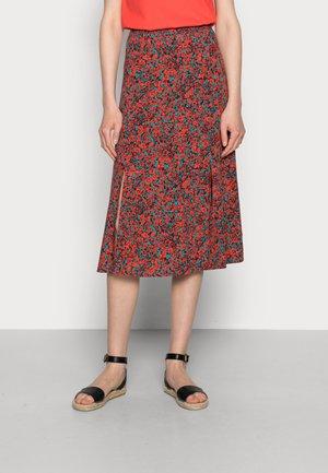 MIDI SKIRT - Áčková sukně - red