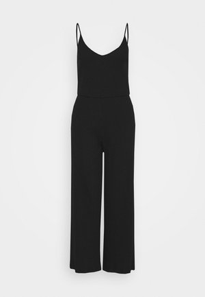 BASIC - STRAPPY RIPPED JUMPSUIT - Jumpsuit - black