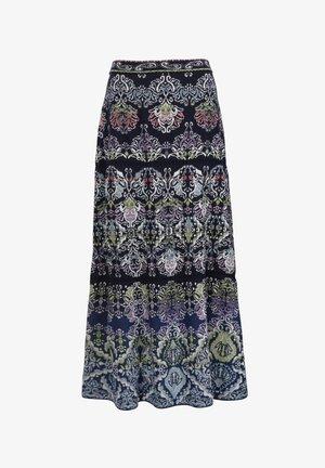 BOHO PATTERN - A-line skirt - marine