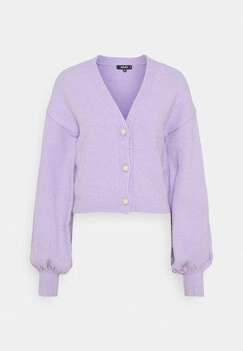 SOFT TOUCH PEARL BUTTON CARDIGAN - Cardigan - lilac