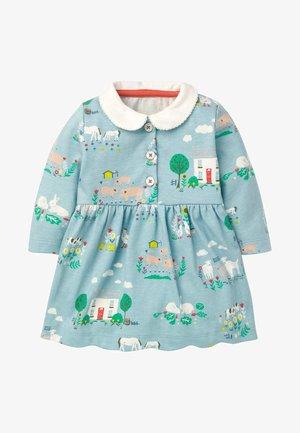 JERSEY MIT KRAGEN - Day dress - babyblau, bauernhof