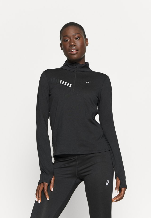 LITE SHOW WINTER ZIP - Sports shirt - performance black/graphite grey