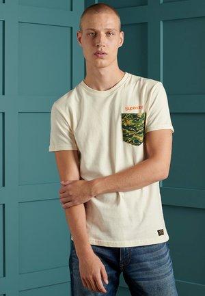 T-shirt print - cream