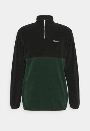 SOFTER DOUBLE - Fleece trui - black/scarab green