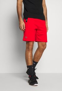 Lacoste Sport - SHORT TAPERED - Sports shorts - corrida/black - 0