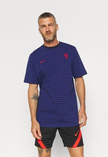 FRANKREICH FFF AIR  - T-shirt z nadrukiem - blackened blue/deep royal blue/university red