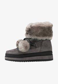 s.Oliver - Kotníkové boty na platformě - grey glitter - 1
