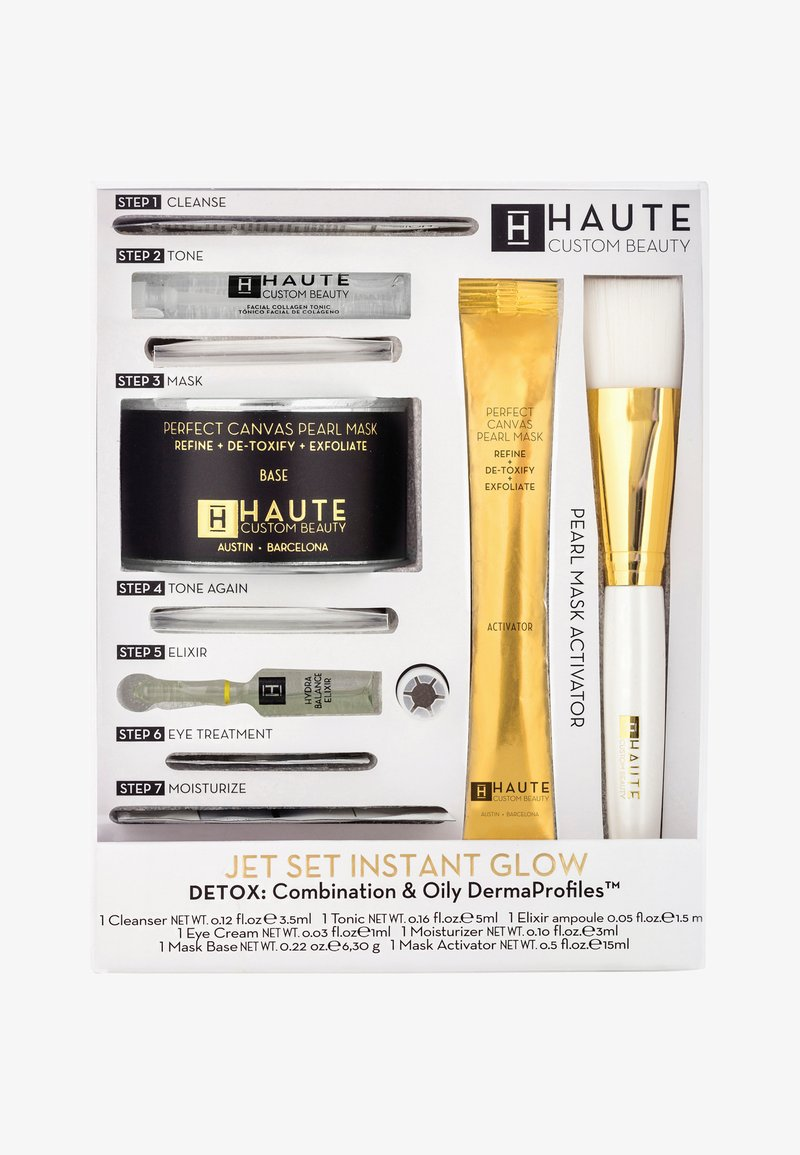 Haute Custom Beauty - JET SET INSTANT GLOW DETOX - Huidverzorgingsset - -