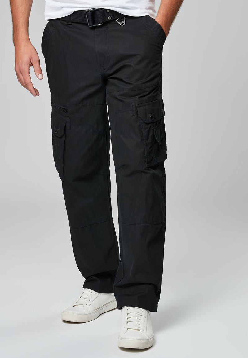 Next - TECH - Cargo trousers - black