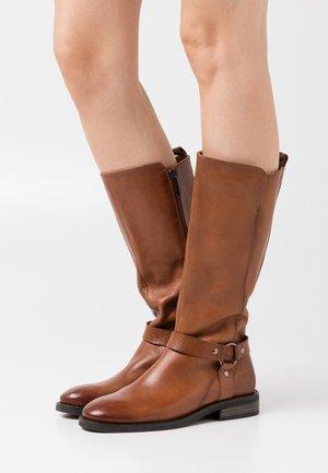 LADIES - Cowboy/Biker boots - camel