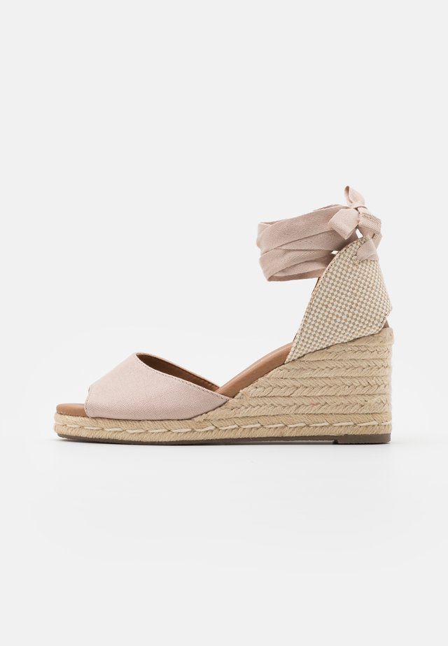 PALM TIE UP - Plateausandalette - oatmeal