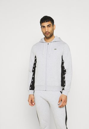 veste en sweat zippée - silver chine/black