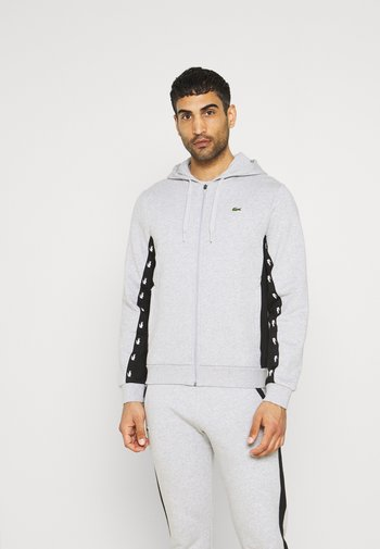 Zip-up sweatshirt - silver chine/black