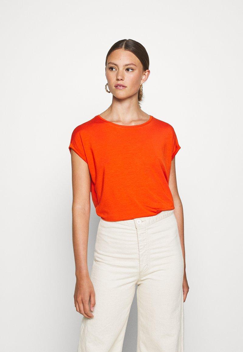Vero Moda - VMAVA PLAIN  - Basic T-shirt - red clay