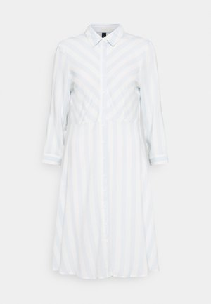 YASSAVANNA DRESS - Shirt dress - baby blue/white stripes