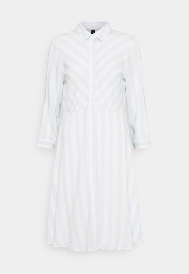 YASSAVANNA DRESS - Košilové šaty - baby blue/white stripes