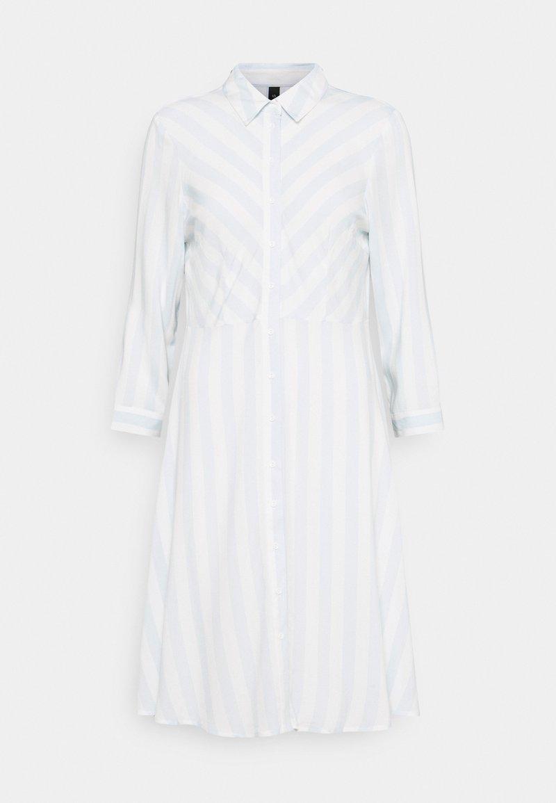 YAS - YASSAVANNA DRESS - Shirt dress - baby blue/white stripes