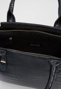 New Look - MARLEY CROC TOTE - Borsa a mano - black - 4