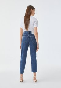 PULL&BEAR - Jean slim - stone blue denim - 4