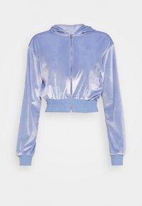 Topshop - DIAMANTE HOODY - Zip-up hoodie - lilac - 0