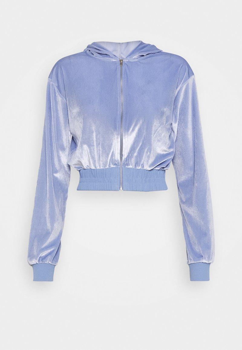 Topshop - DIAMANTE HOODY - Zip-up hoodie - lilac