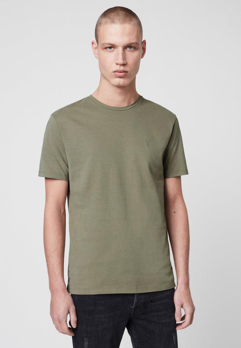 AllSaints - BRACE - Basic T-shirt - evergreen