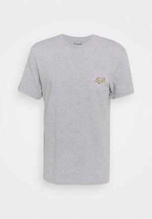 BRONCA POCKET TEE - T-shirt z nadrukiem - light heather grey