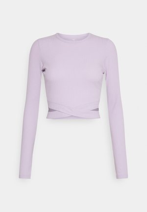 ULTRA CROP CUT OUT - Long sleeved top - orchid petal