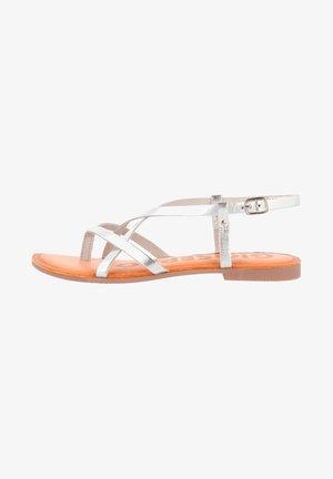 T-bar sandals - plata