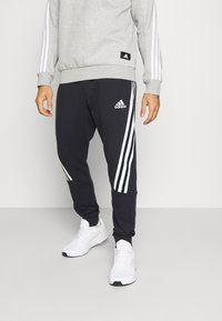 adidas Performance - 3S TAPE PANT - Tracksuit bottoms - black - 0