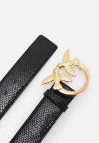 Pinko - LOVE BERRY WAIST LAMINATED BELT PITONE LAMINA - Belt - black - 2