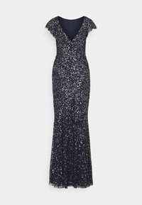 Maya Deluxe - ALL OVER SEQUIN WITH FLUTTER SLEEVE - Iltapuku - navy - 7