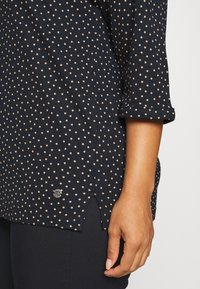 MY TRUE ME TOM TAILOR - V-NECK - Long sleeved top - navy brown dot - 5