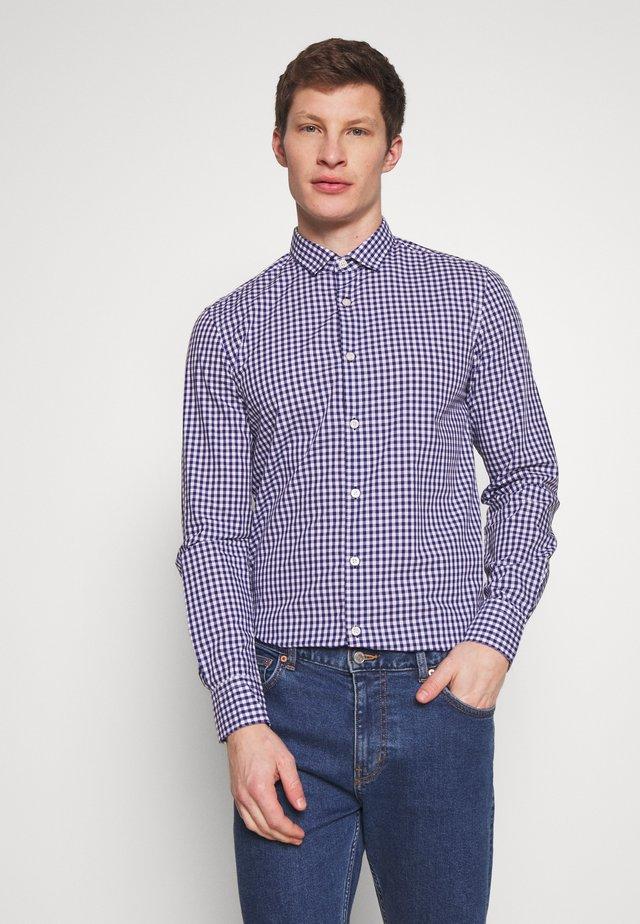 CHECK SHIRT - Shirt - dark blue