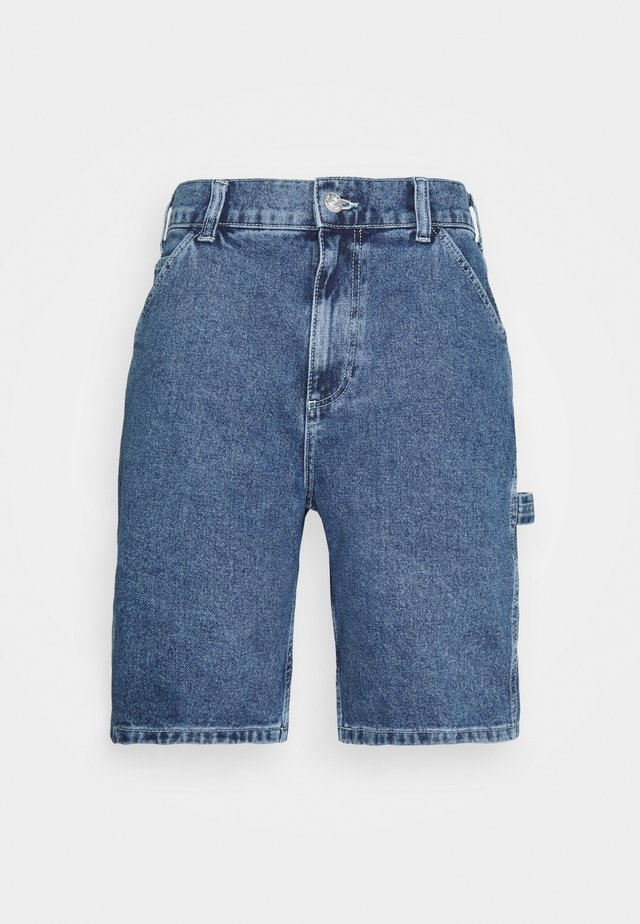 CARPENTER - Denim shorts - blue