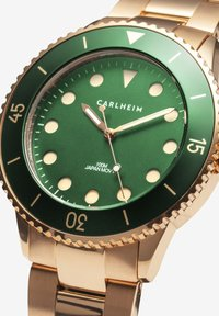 Carlheim - DIVER 40MM LINK - Montre - rose gold-green - 2