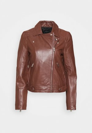 Leather jacket - cherry mahogany