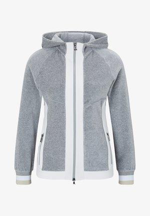 SAHARA - veste en sweat zippée - grau meliert/weiß