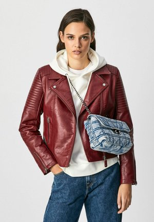SUSANE - Faux leather jacket - johannisbeere