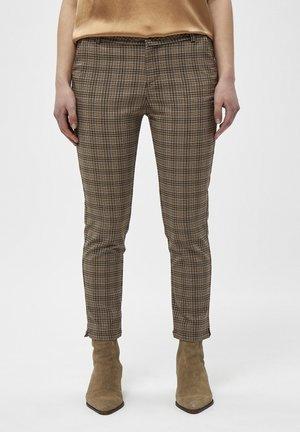 NEW CARMA CHECK - Pantalon classique - misty blue checked